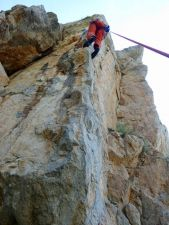 ... Ulli in The Leading Edge 6b+