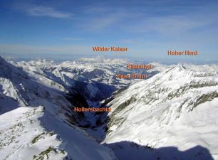 ein informatives Panorama: nach N ins Hollersbachtal