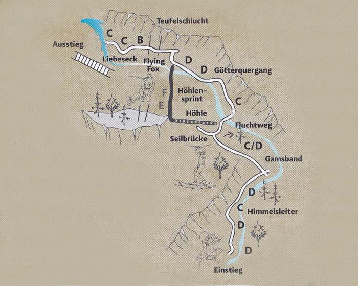 Klettersteig Karte : Klettersteige in Österreich