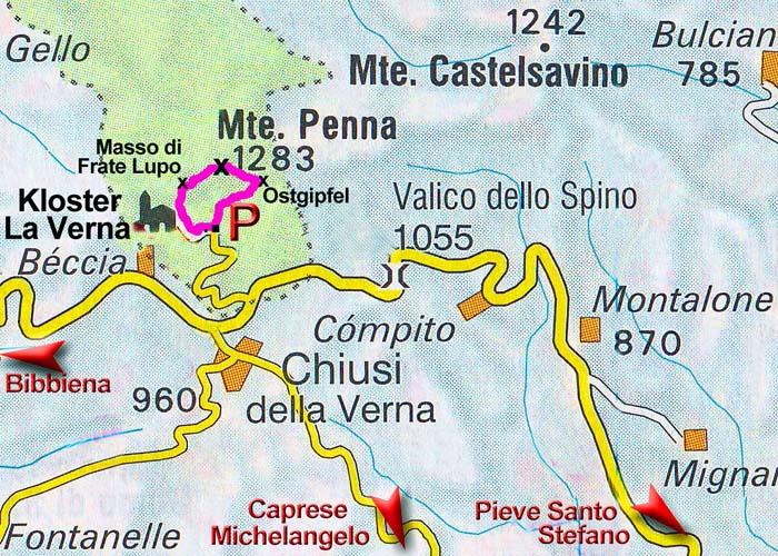 Penna, Monte (Apennin, Toskana/Italien) on