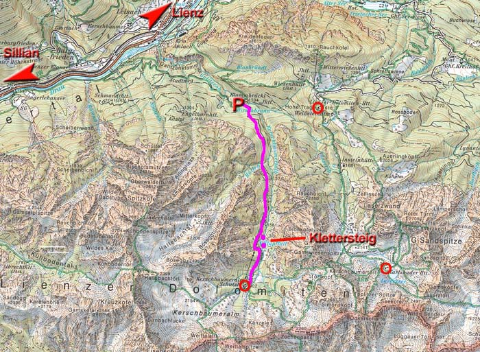 Klettersteig Verborgene Welt : Verborgene welt klettersteig gailtaler alpen lienzer dolomiten